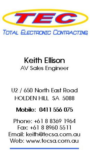 Keith Ellison Business Card